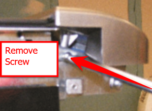console mounting bracket screw
